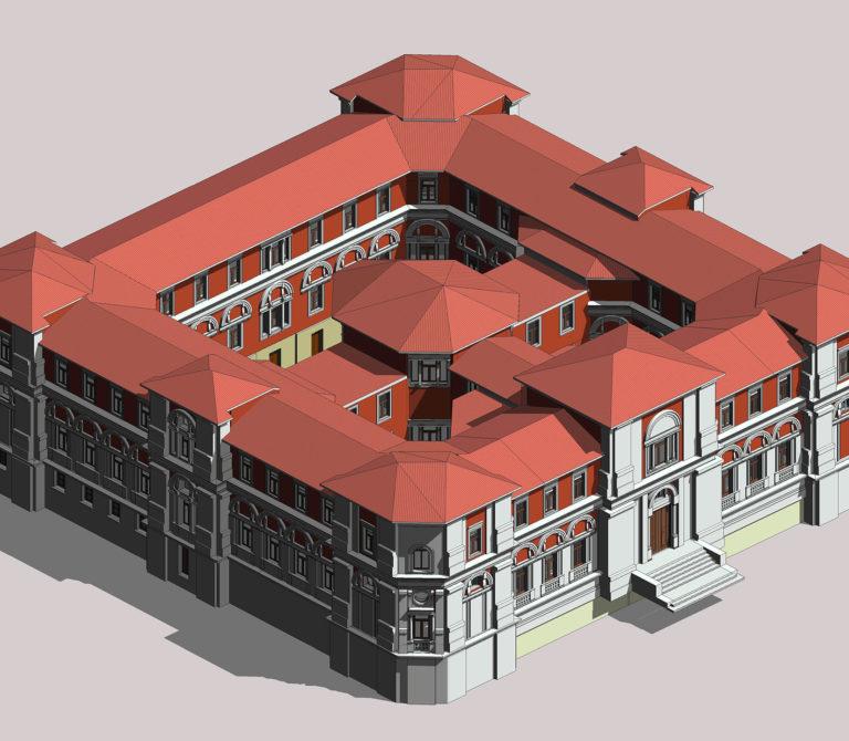 3D Laser scanner survey – Scan to BIM – Avezzano Law Court