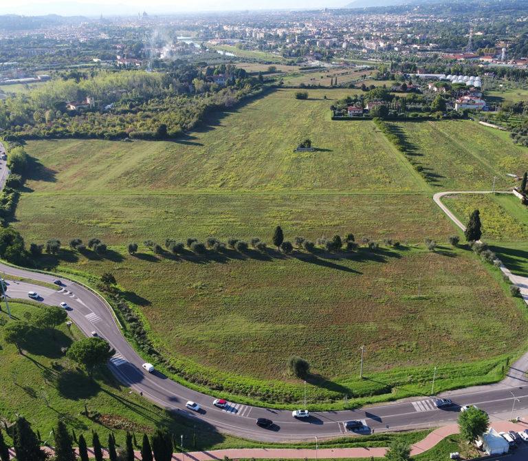 Rilievo con drone nuovo centro sportivo Acf Fiorentina