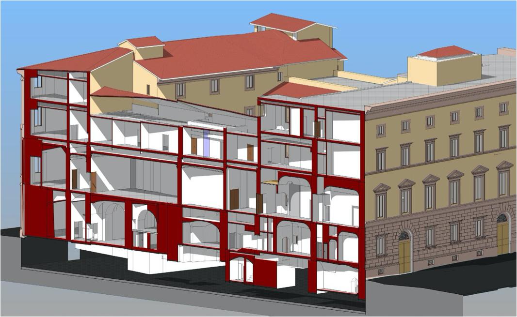 sezione-da-modello-bim-palazzo-roma